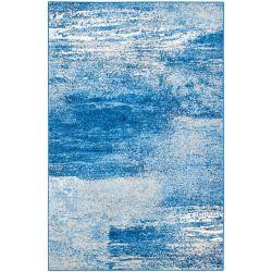 Safavieh Carpette d'intérieur, 4 pi x 6 pi, style contemporain, rectangulaire, bleu Adirondack