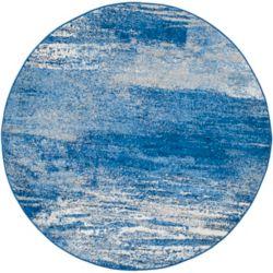 Safavieh Adirondack Lance Silver / Blue 4 ft. x 4 ft. Indoor Round Area Rug