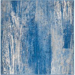 Safavieh Adirondack Lance Silver / Blue 4 ft. x 4 ft. Indoor Square Area Rug
