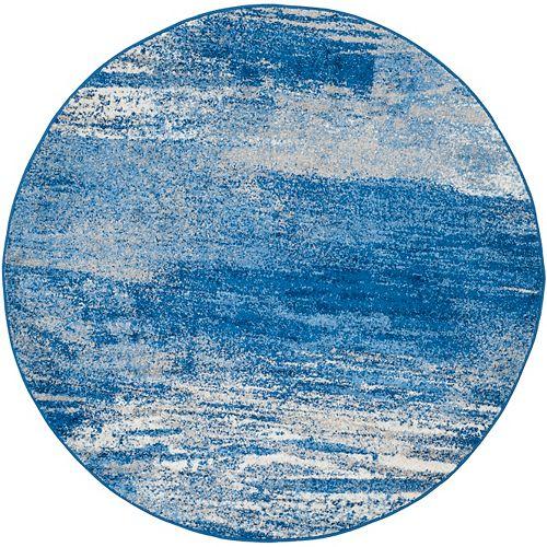 Safavieh Adirondack Lance Silver / Blue 6 ft. x 6 ft. Indoor Round Area Rug