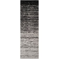 Safavieh Adirondack Brian Silver / Black 2 ft. 6 inch x 10 ft. Indoor Runner