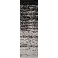 Safavieh Tapis de passage d'intérieur, 2 pi 6 po x 14 pi, style contemporain, argent Adirondack