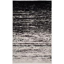 Safavieh Carpette d'intérieur, 2 pi 6 po x 4 pi, style contemporain, rectangulaire, argent Adirondack