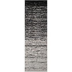 Safavieh Adirondack Brian Silver / Black 2 ft. 6 inch x 8 ft. Indoor Runner