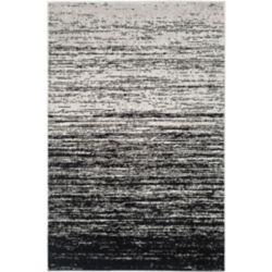 Safavieh Carpette d'intérieur, 4 pi x 6 pi, style contemporain, rectangulaire, argent Adirondack