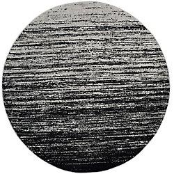 Safavieh Adirondack Brian Silver / Black 4 ft. x 4 ft. Indoor Round Area Rug