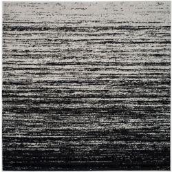 Safavieh Adirondack Brian Silver / Black 4 ft. x 4 ft. Indoor Square Area Rug
