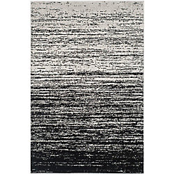 Safavieh Adirondack Brian Silver / Black 5 ft. 1 inch x 7 ft. 6 inch Indoor Area Rug