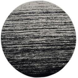 Safavieh Adirondack Brian Silver / Black 8 ft. x 8 ft. Indoor Round Area Rug