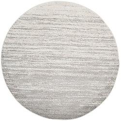 Safavieh Adirondack Brian Ivory / Silver 4 ft. x 4 ft. Indoor Round Area Rug