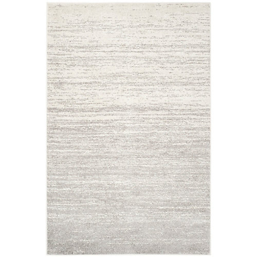 Adirondack Brian Ivory / Silver 5 ft. 1 inch x 7 ft. 6 inch Indoor Area Rug