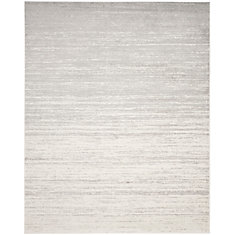 Adirondack Brian Ivory / Silver 8 ft. x 10 ft. Indoor Area Rug
