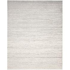 Carpette d'intérieur, 9 pi x 10 pi, style contemporain, rectangulaire, argent Adirondack