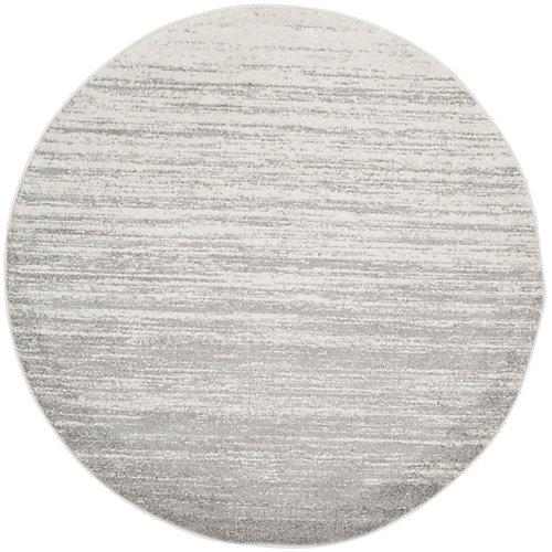 Adirondack Ivory Silver 8 Feet X Round Area Rug