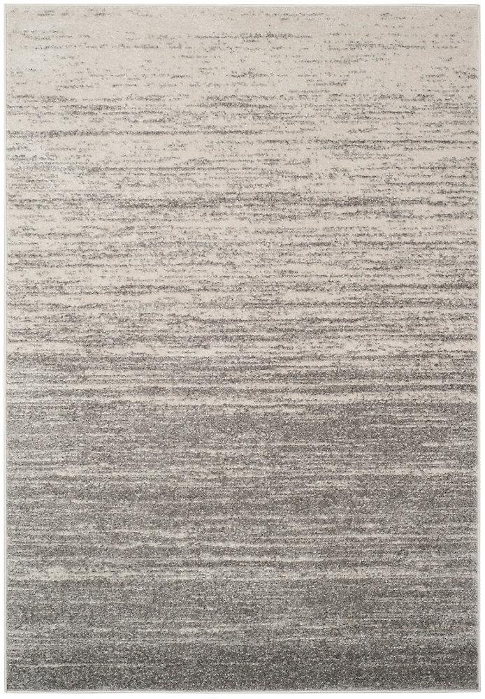 Carpette d'intérieur, 6 pi x 9 pi, style contemporain, rectangulaire, gris Adirondack