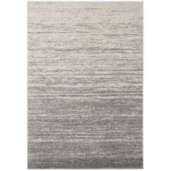 Safavieh Carpette d'intérieur, 9 pi x 10 pi, style contemporain, rectangulaire, gris Adirondack