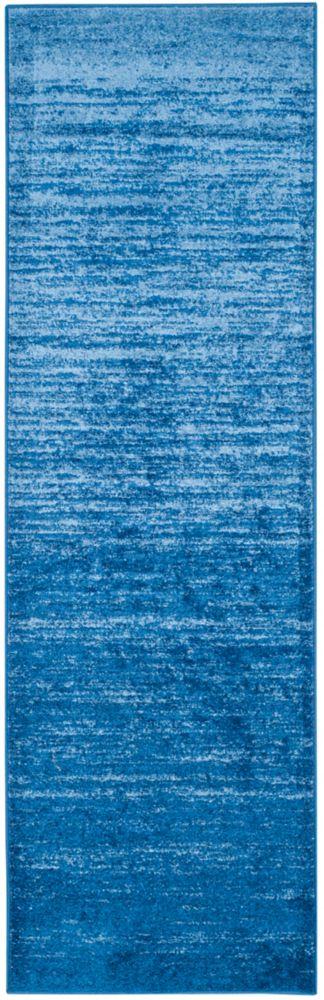 Safavieh Adirondack Brian Light Blue / Dark Blue 2 ft. 6 inch x 8 ft. Indoor Runner