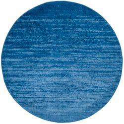 Safavieh Carpette d'intérieur, 4 pi x 4 pi, style contemporain, ronde, bleu Adirondack
