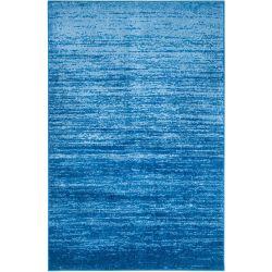 Safavieh Carpette d'intérieur, 6 pi x 9 pi, style contemporain, rectangulaire, bleu Adirondack