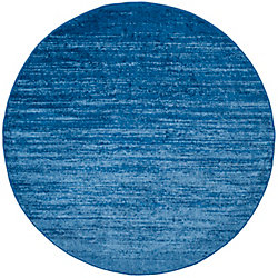Safavieh Adirondack Brian Light Blue / Dark Blue 8 ft. x 8 ft. Indoor Round Area Rug