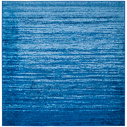 Safavieh Adirondack Brian Light Blue / Dark Blue 8 ft. x 8 ft. Indoor Square Area Rug