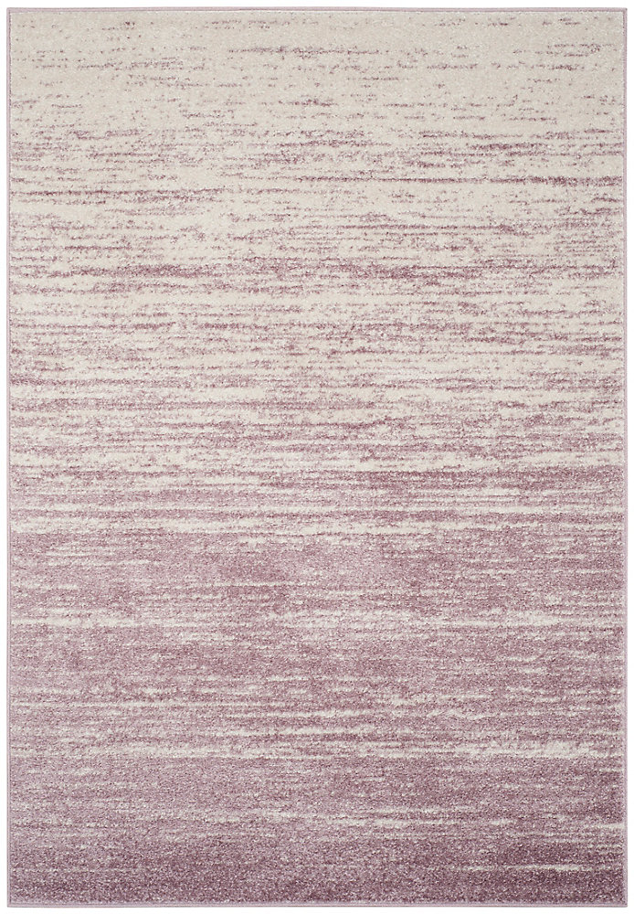 Adirondack Brian Cream / Purple 8 ft. x 10 ft. Indoor Area Rug