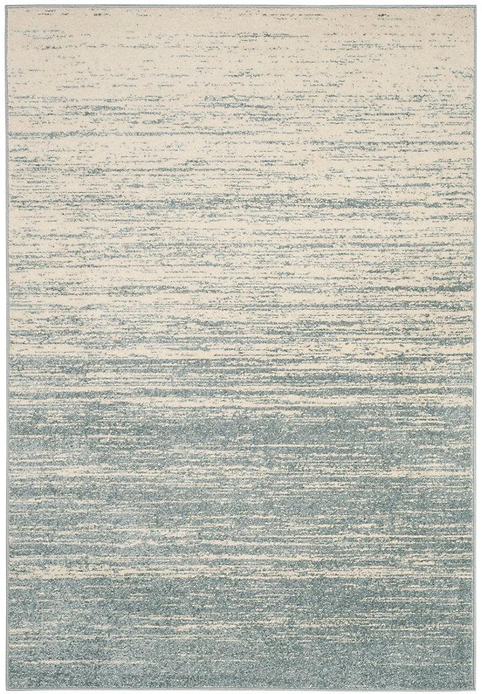Carpette d'intérieur, 6 pi x 9 pi, style contemporain, rectangulaire, bleu Adirondack