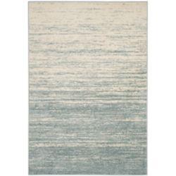 Safavieh Carpette d'intérieur, 9 pi x 10 pi, style contemporain, rectangulaire, bleu Adirondack