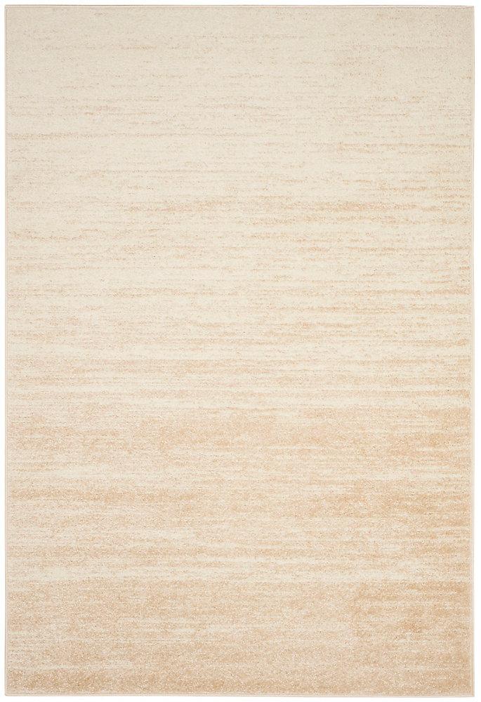 Carpette d'intérieur, 5 pi 1 po x 7 pi 6 po, style contemporain, rectangulaire, havane Adirondack