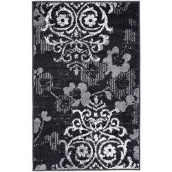 Safavieh Carpette d'intérieur, 2 pi 6 po x 4 pi, style contemporain, rectangulaire, noir Adirondack