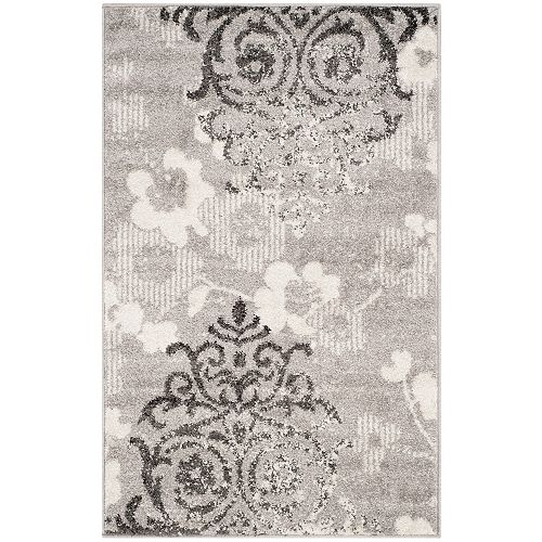 Safavieh Adirondack Roslyn Silver / Ivory 2 ft. 6 inch x 4 ft. Indoor Area Rug