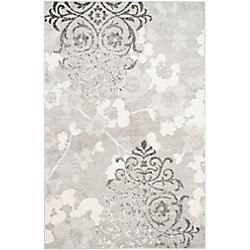 Safavieh Adirondack Roslyn Silver / Ivory 5 ft. 1 inch x 7 ft. 6 inch Indoor Area Rug