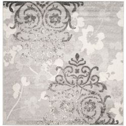 Safavieh Adirondack Roslyn Silver / Ivory 6 ft. x 6 ft. Indoor Square Area Rug