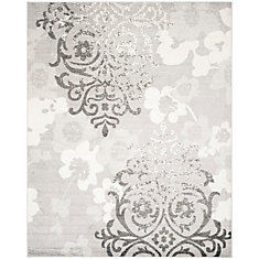 Adirondack Roslyn Silver / Ivory 8 ft. x 10 ft. Indoor Area Rug