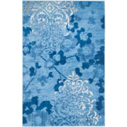 Safavieh Adirondack Roslyn Light Blue / Dark Blue 5 ft. 1 inch x 7 ft. 6 inch Indoor Area Rug