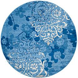 Safavieh Adirondack Roslyn Light Blue / Dark Blue 8 ft. x 8 ft. Indoor Round Area Rug