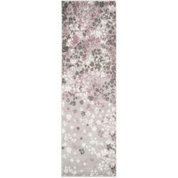 Safavieh Adirondack Arthur Light Grey / Purple 2 ft. 6 inch x 10 ft. Indoor Runner