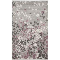 Safavieh Carpette d'intérieur, 3 pi x 5 pi, style contemporain, rectangulaire, gris Adirondack