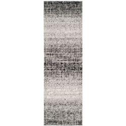 Safavieh Carpette d'intérieur, 2 pi 6 po x 10 pi, style contemporain, argent Adirondack