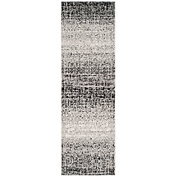 Safavieh Adirondack Janice Silver / Black 2 ft. 6 inch x 18 ft. Indoor Runner