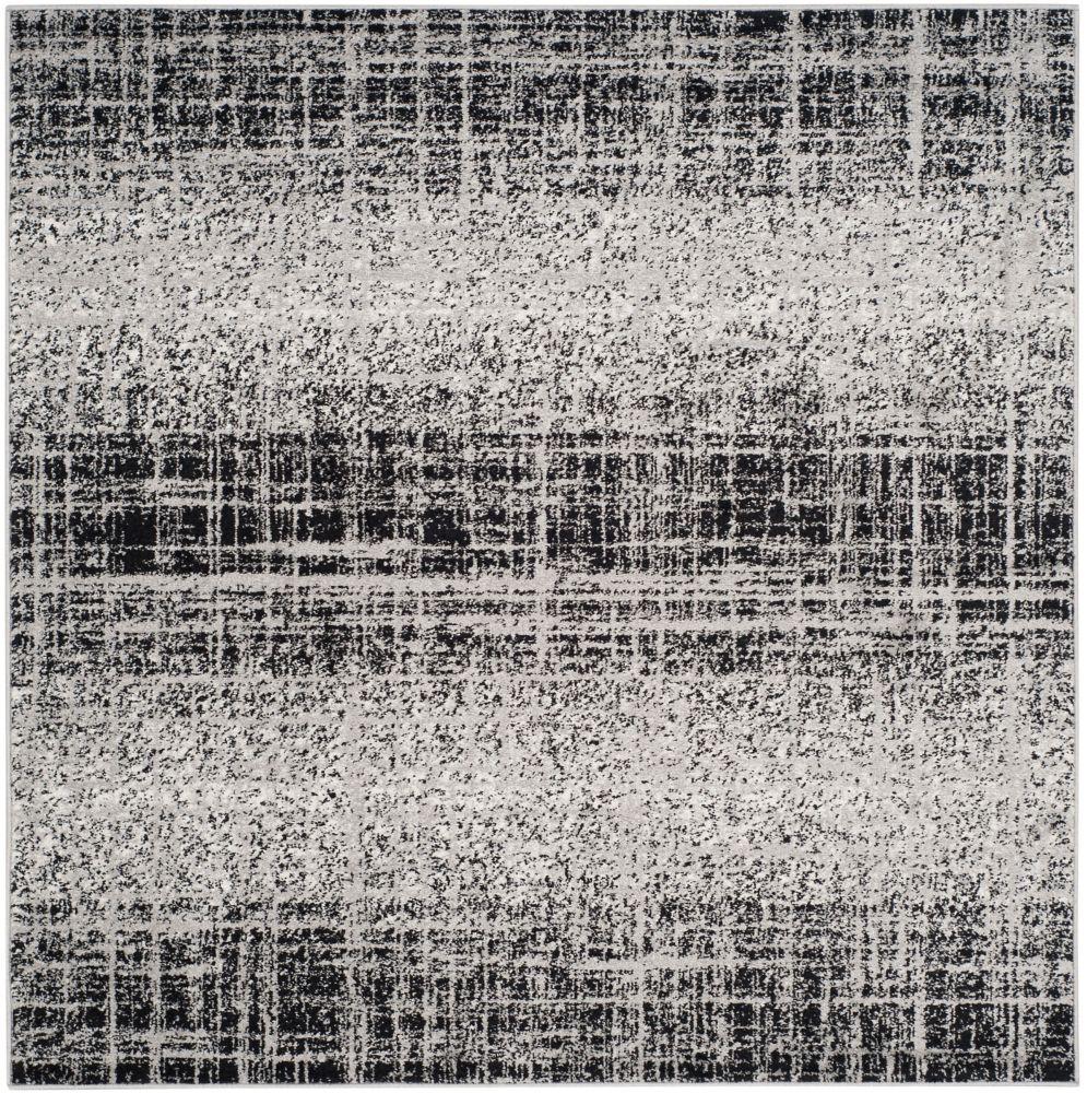 Safavieh Adirondack Janice Silver / Black 4 ft. x 4 ft. Indoor Square Area Rug