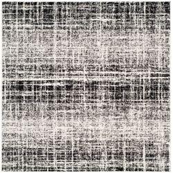 Safavieh Adirondack Janice Ivory / Black 4 ft. x 4 ft. Indoor Square Area Rug