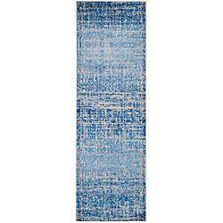 Safavieh Adirondack Janice Blue / Silver 2 ft. 6 inch x 10 ft. Indoor Runner