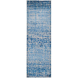 Safavieh Adirondack Janice Blue / Silver 2 ft. 6 inch x 8 ft. Indoor Runner