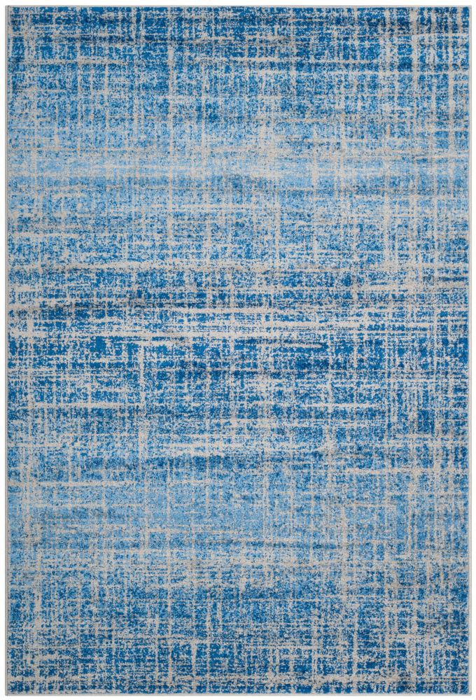 Adirondack Janice Blue / Silver 4 ft. x 6 ft. Indoor Area Rug