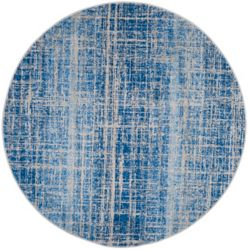 Safavieh Adirondack Janice Blue / Silver 4 ft. x 4 ft. Indoor Round Area Rug