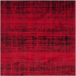 Safavieh Adirondack Janice Red / Black 6 ft. x 6 ft. Indoor Square Area Rug