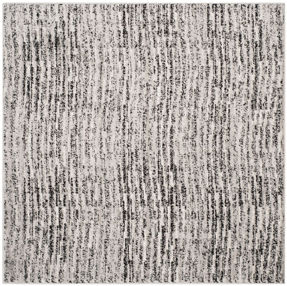 Safavieh Adirondack Leonard Black / Silver 4 ft. x 4 ft. Indoor Square Area Rug