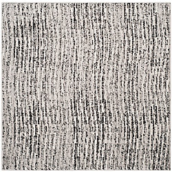 Safavieh Adirondack Leonard Black / Silver 6 ft. x 6 ft. Indoor Square Area Rug