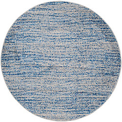 Safavieh Adirondack Leonard Blue / Silver 4 ft. x 4 ft. Indoor Round Area Rug